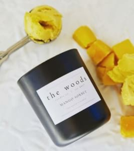 The Woods Candle Co - Mango Sobet