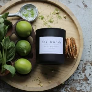 The Woods Candle Co-Basil Lime and Mandarin