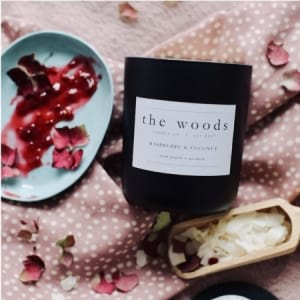 The Woods Candle Co - Raspberry & Coconut