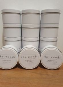 The Woods Candle Small Travel Tin