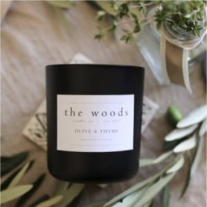 The Woods Candle Co - Olive & Thyme