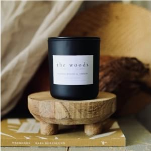 The Woods Candle Co - Sandalwood & Amber
