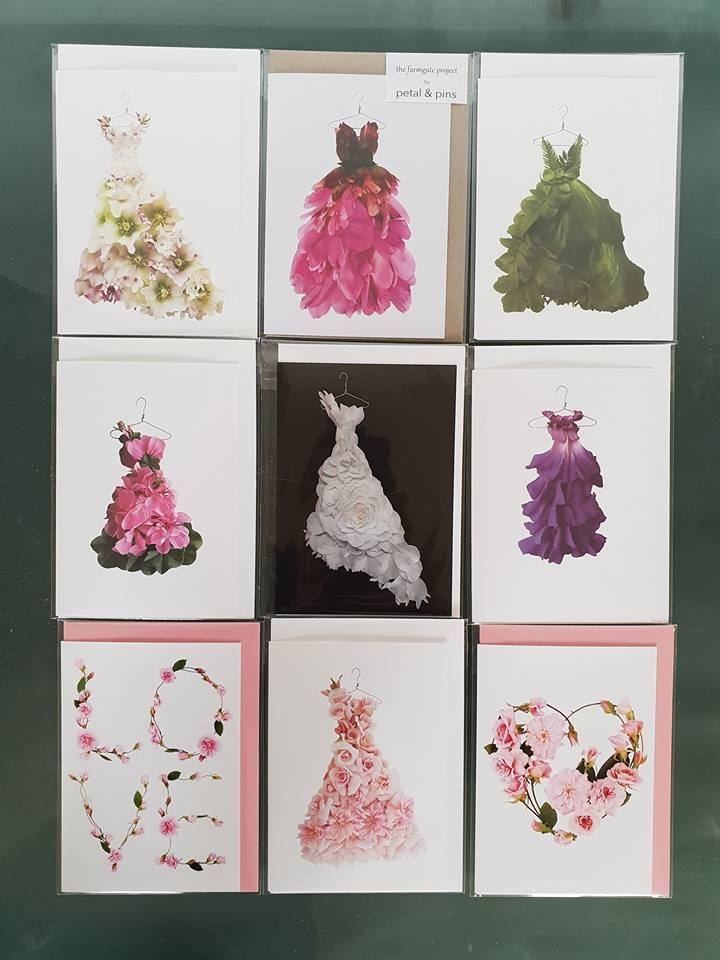 Petal & Pins Greeting Cards